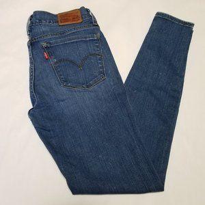 Levi's Medium Wash 710 Super Skinny Ankle Jeans